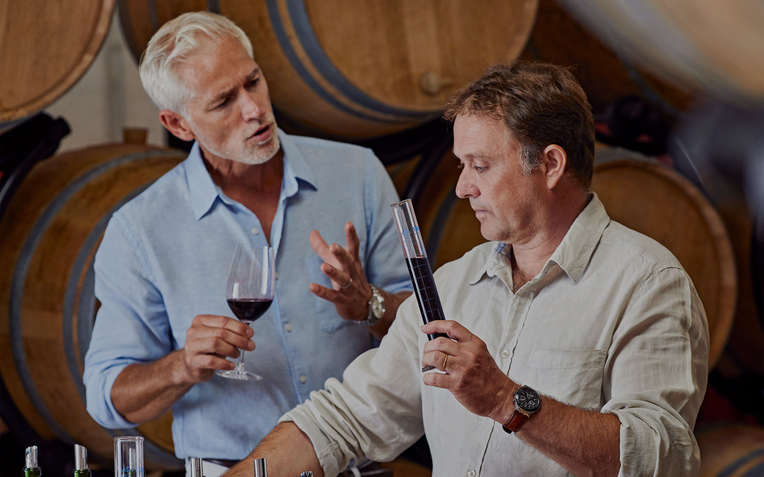 Blending bespoke wine with expert Eric Boissenot
