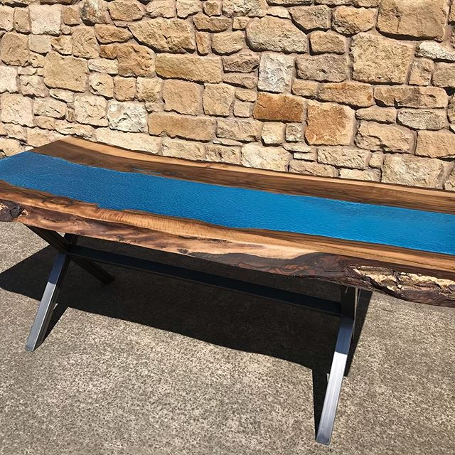 FOR SALE Beautiful English Walnut and blue metallic resin River table. Size approx 2m long by 800-900mm wide. The table top is 65mm thick and has a bespoke handmade metal X table bass. Local delivery possible and could also courier. Please get in touch for more information and welcome to come and look anytime. £2995 #handmade #reclaimed #reclaimedfurniture #reclaimedkitchen #reclaimedtimber #bespoke #design #interiors #interiordesign #carpenter #resin#resintable #rivertable #rivertableuk #kitchendesign #maker #patina #furnituremaker #artisan #hexham #corbridge #newcastle #northumberland