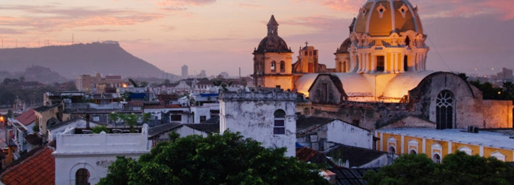 The Old City of Cartagena. Our private house will be in this area.
