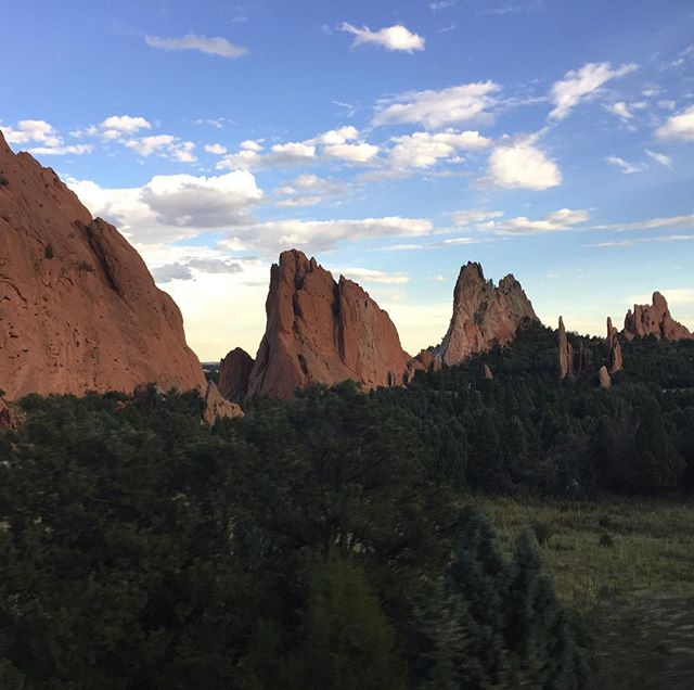 Garden of the Gods at sunset last night. The air in Colorado is invigorating and the scenery ain't bad too.