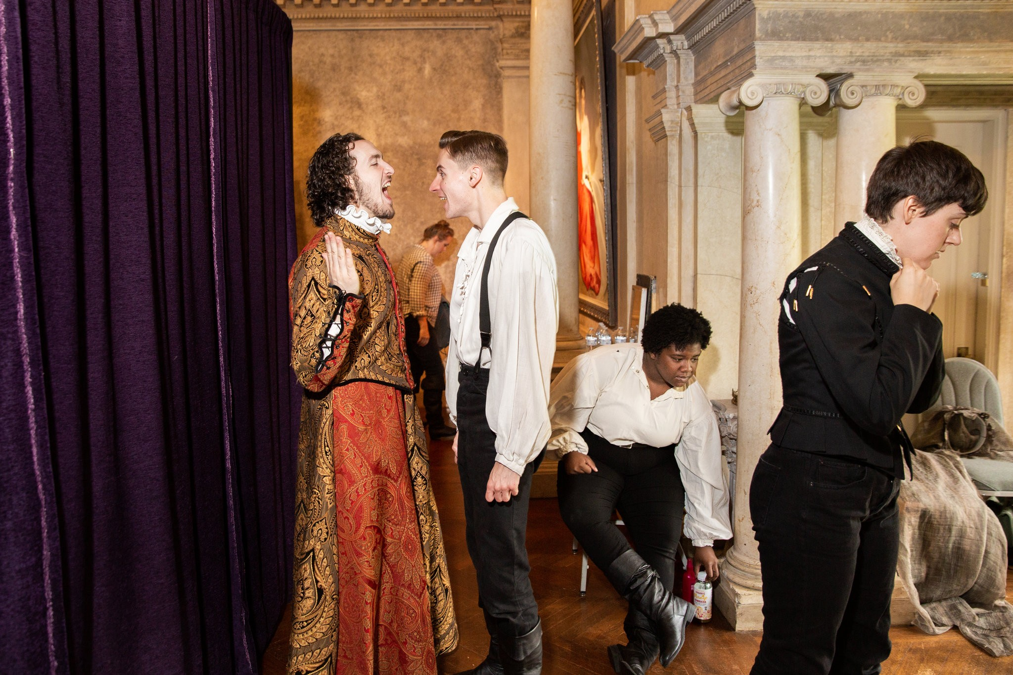 """""""Backstage, from left, Mr. Nudler, Mr. Light, Dara Brown and Ms. Mann.""""   Photo: Gaia Squarci for  The New York Times"""