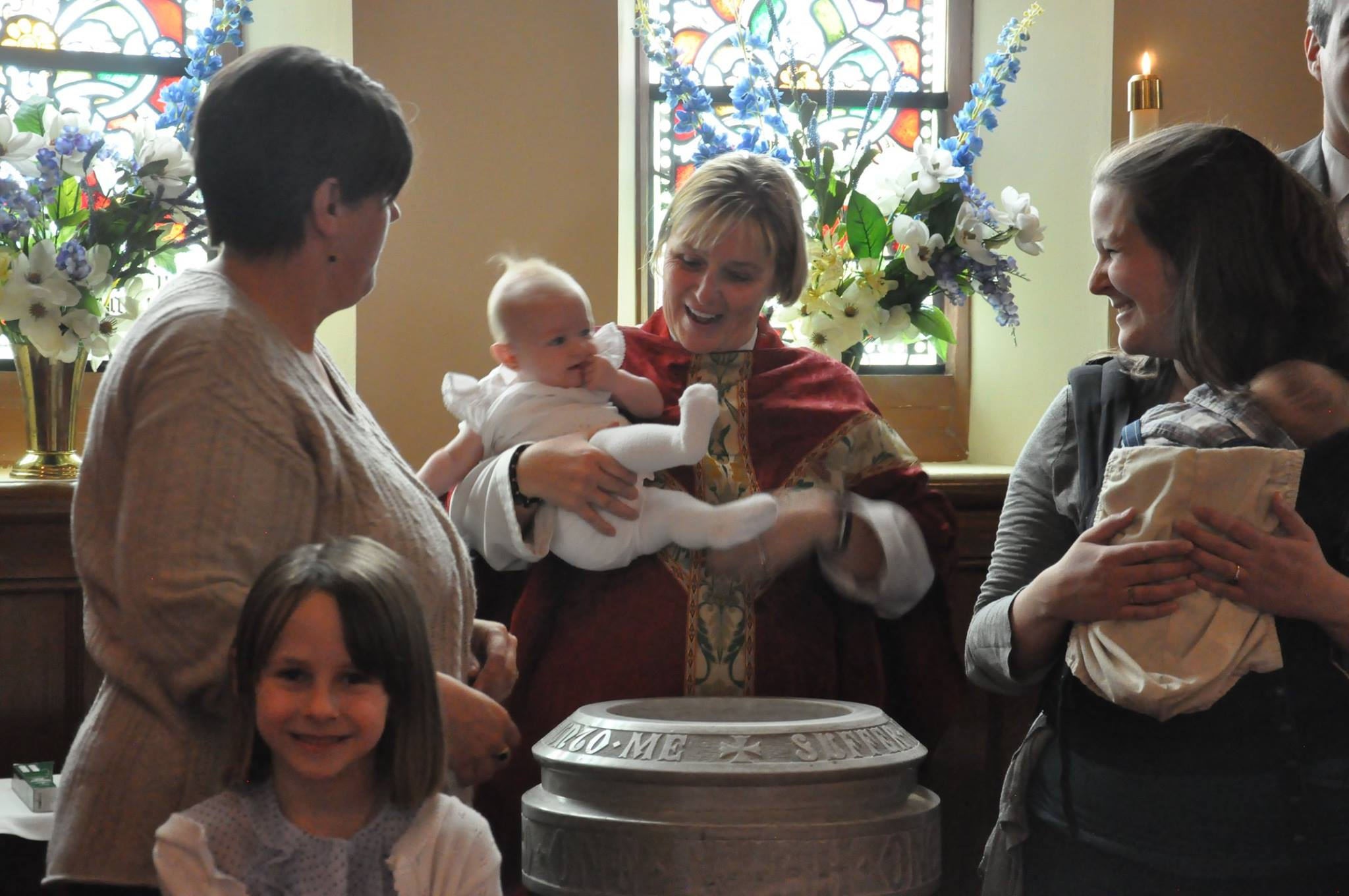 Baptising a child