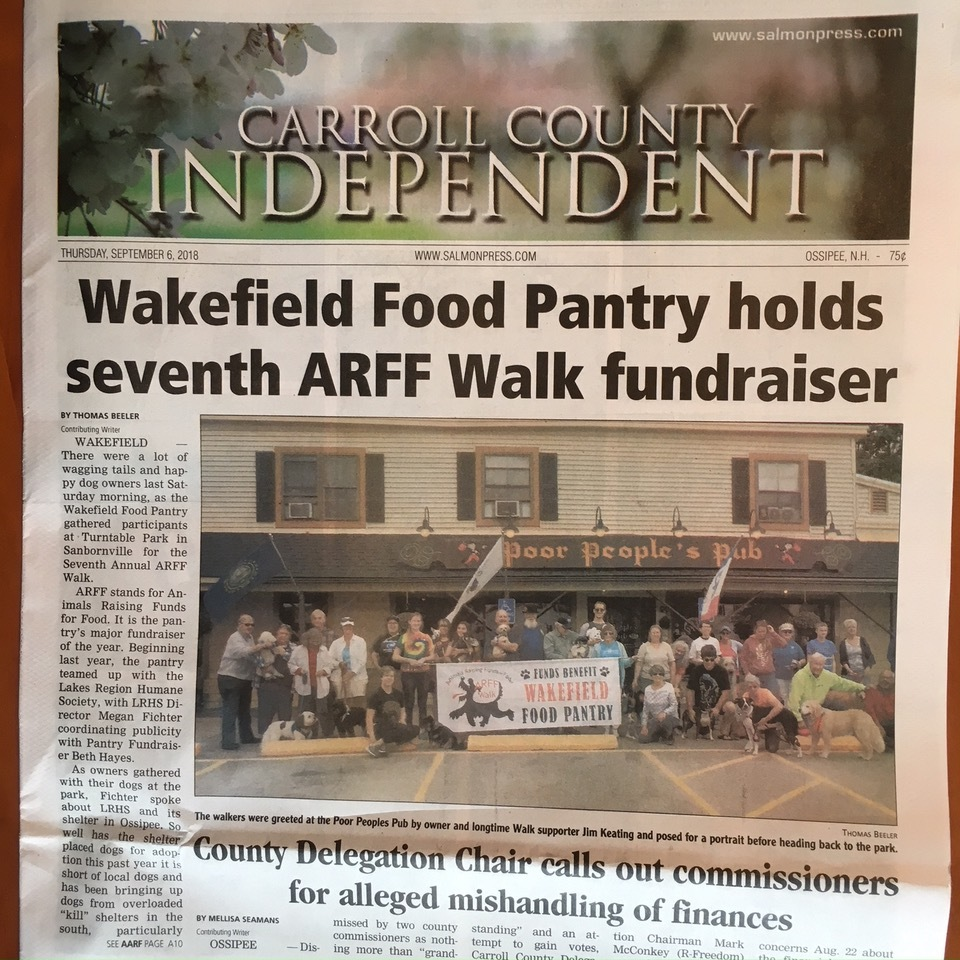 The ARFF Walk 2018 makes front page news!