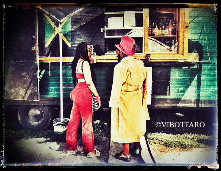 Jamaican food truck.