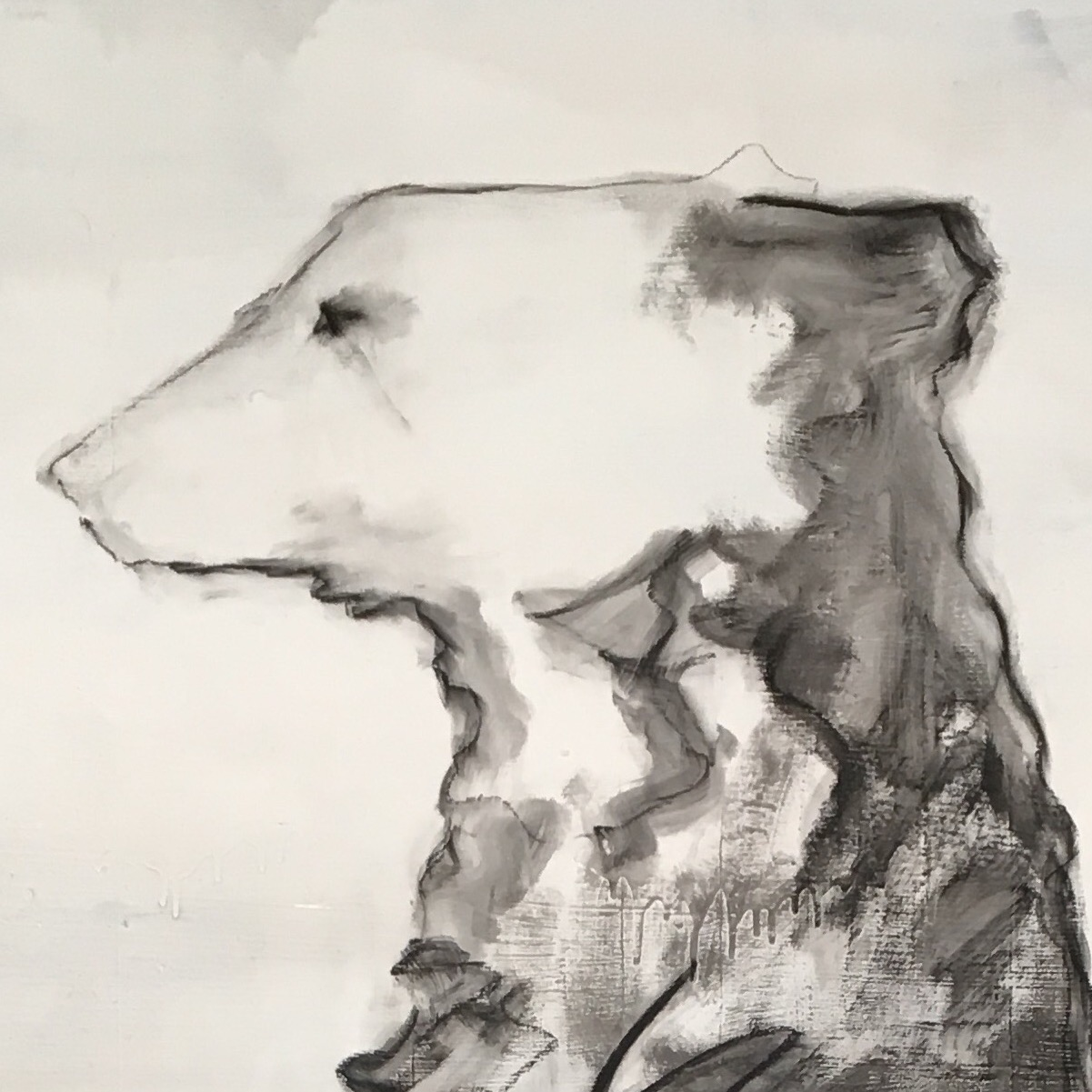 21 Bears Standing around doing not much at all. and Other Charcoal Drawings