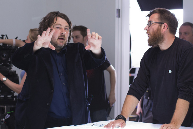 Ben Wheatley on the set of  High-Rise  (2016).