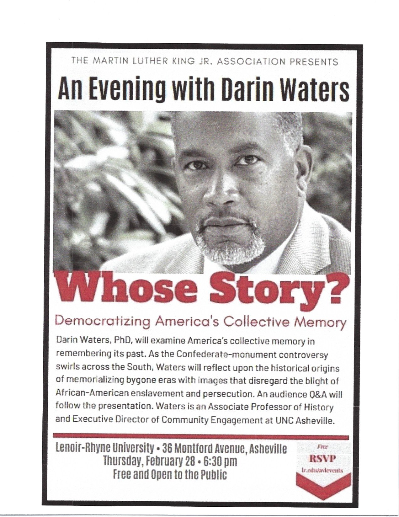Whose Story - An Evening with Darin Waters