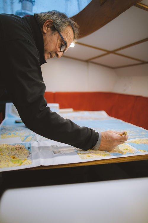 capitaine du bateau étudiant carte
