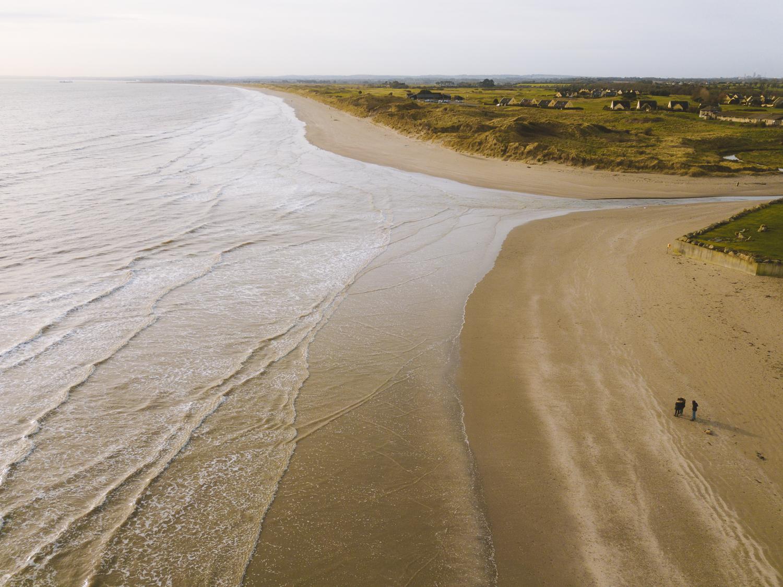freelensers sur une plage irlandaise