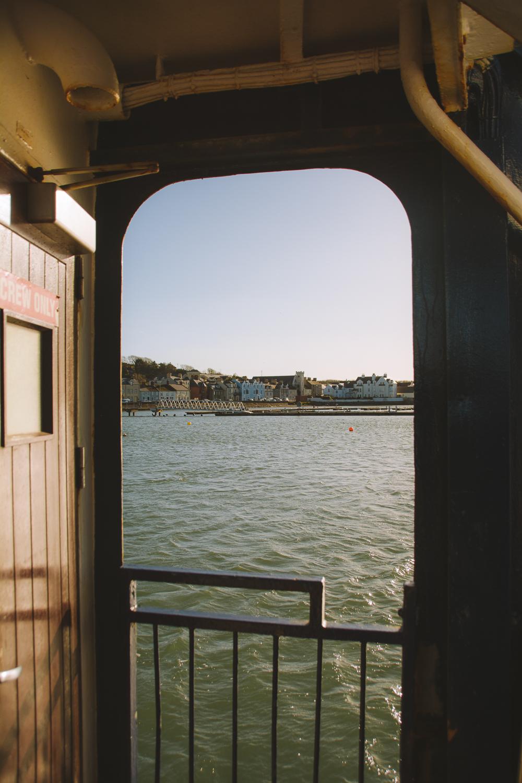 vue sur la mer depuis le ferry
