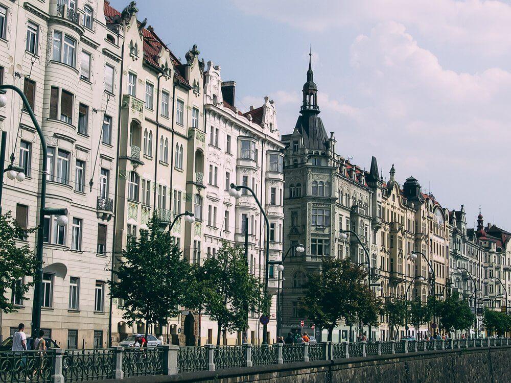 architecture des bâtiments du centre ville