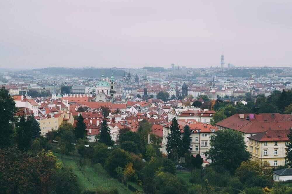 Vue sur la ville de Prague en République Tchèque