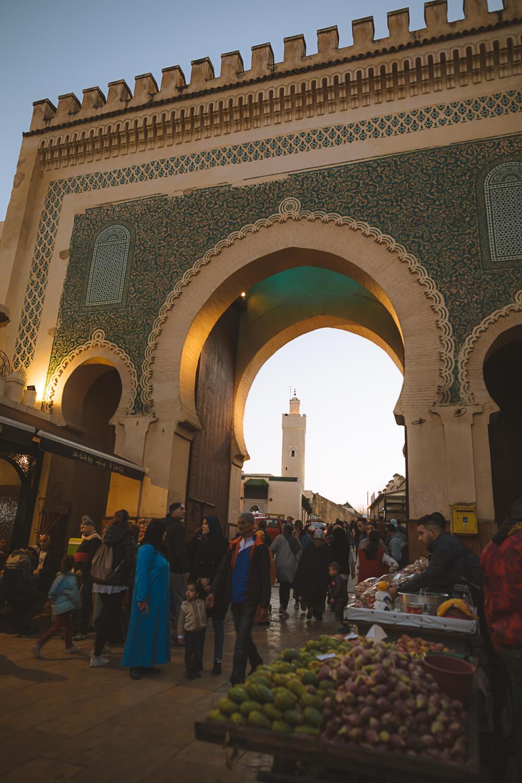 porte bleue medina
