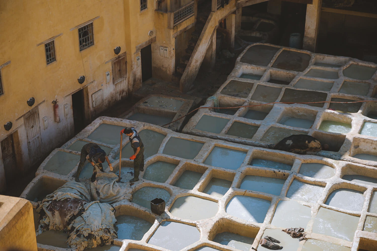 visiter les tanneries cuir