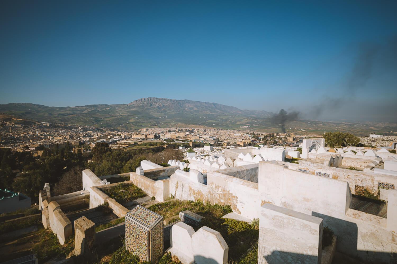 cimetiere blanc borj sud panorama ville