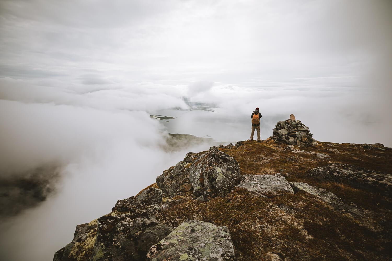 panorama fjord senja