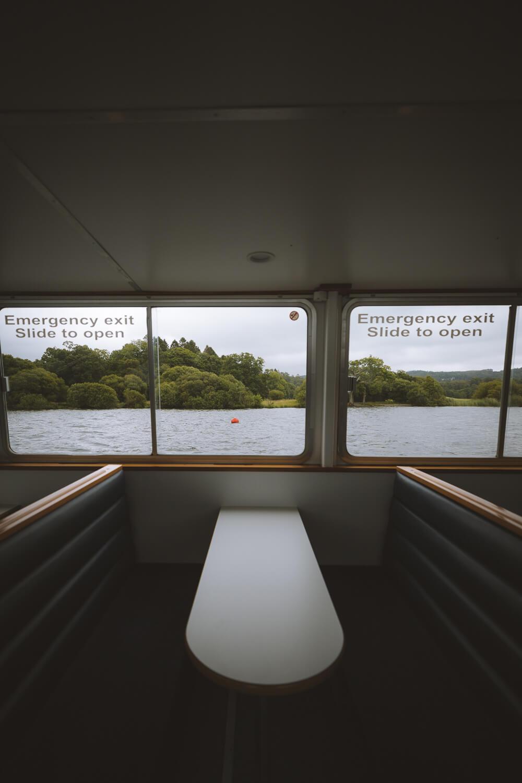 depuis le bateau windermere
