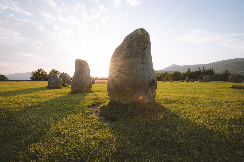 coucher de soleil cercle de pierres castle riggs