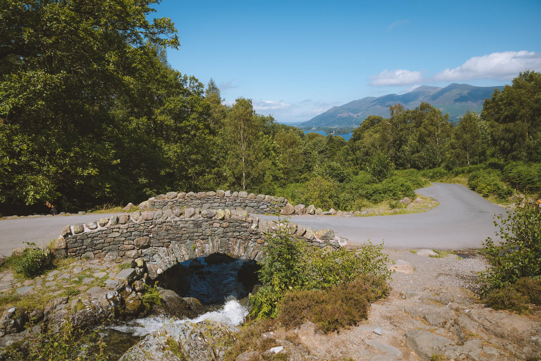 ashness bridge derwentwater lake