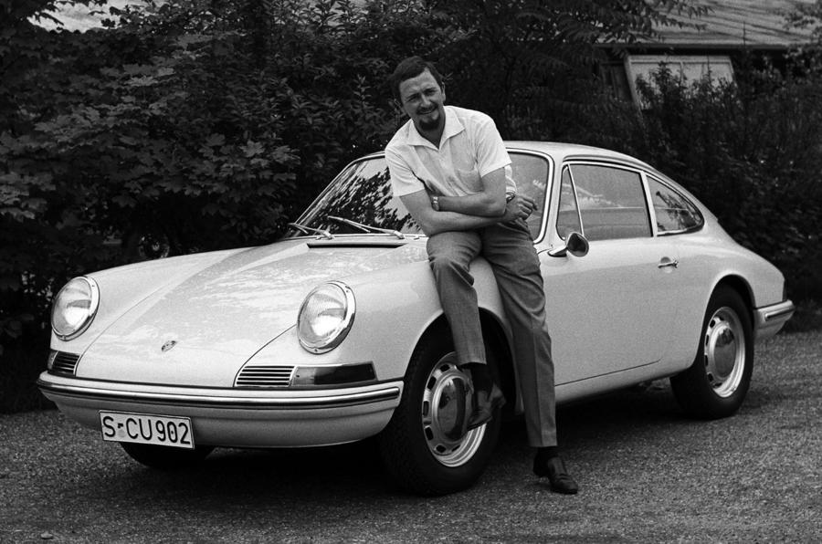 The first-generation Porsche 911.