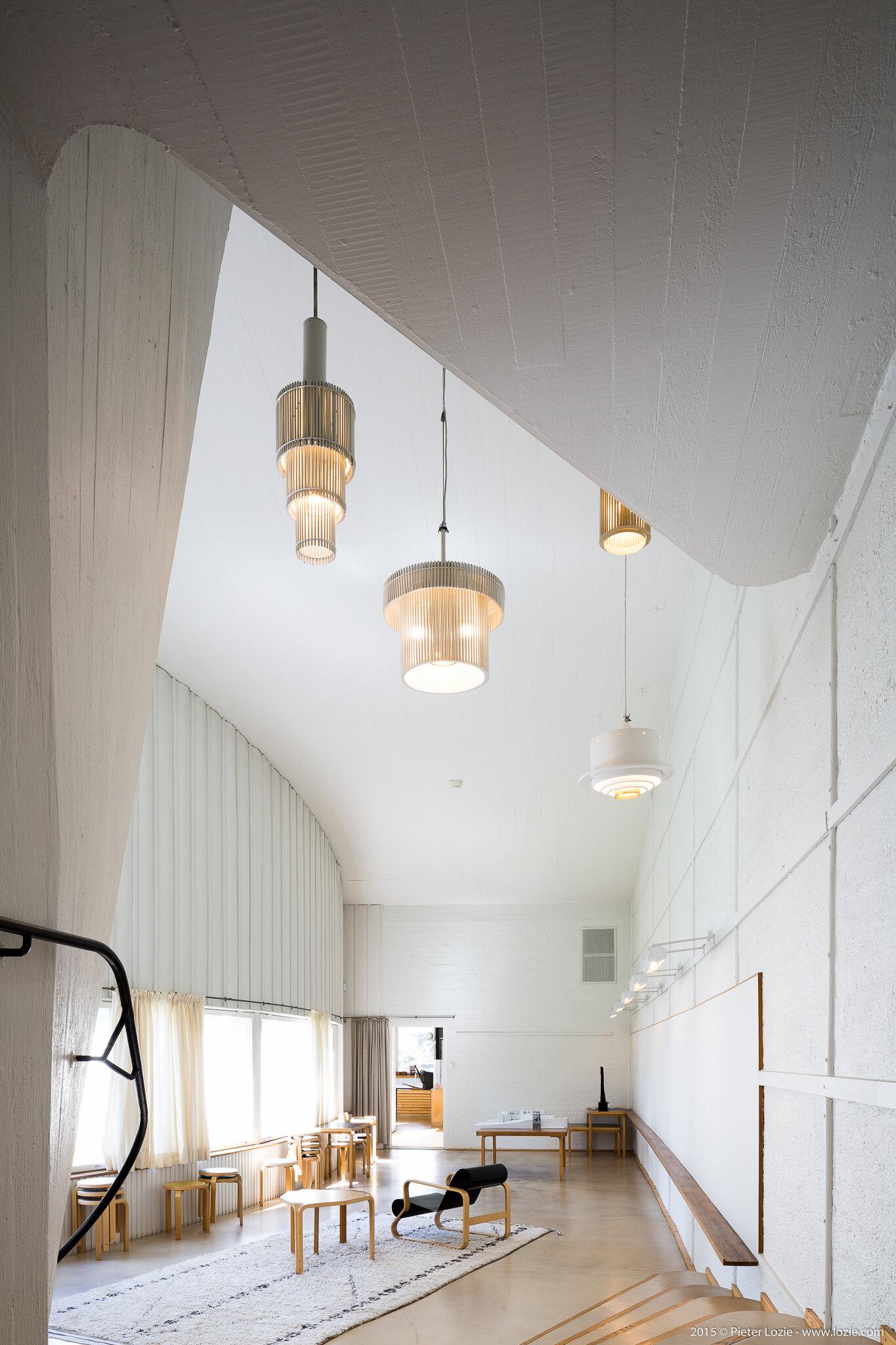 Alvar Aalto Studio, Helsinki, Finland (1955)  Photo by: Pieter Lozie Photography