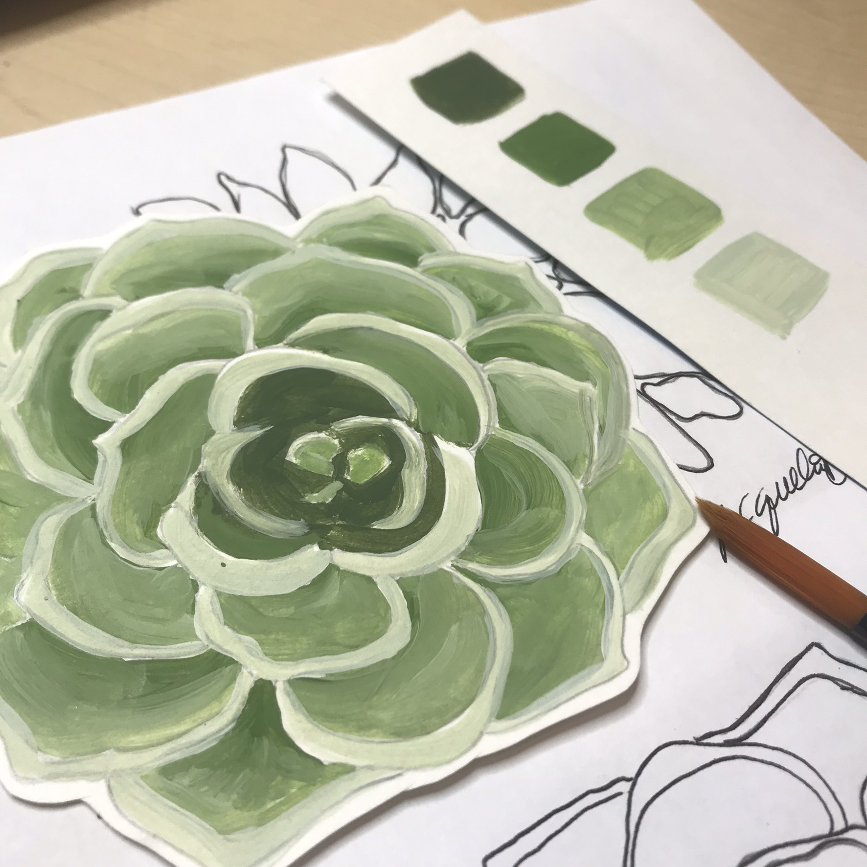 Get A FREE Beginner Friendly Painting Tutorial:How to Paint a Succulent - Pop in your name and email below for a free video painting tutorial!