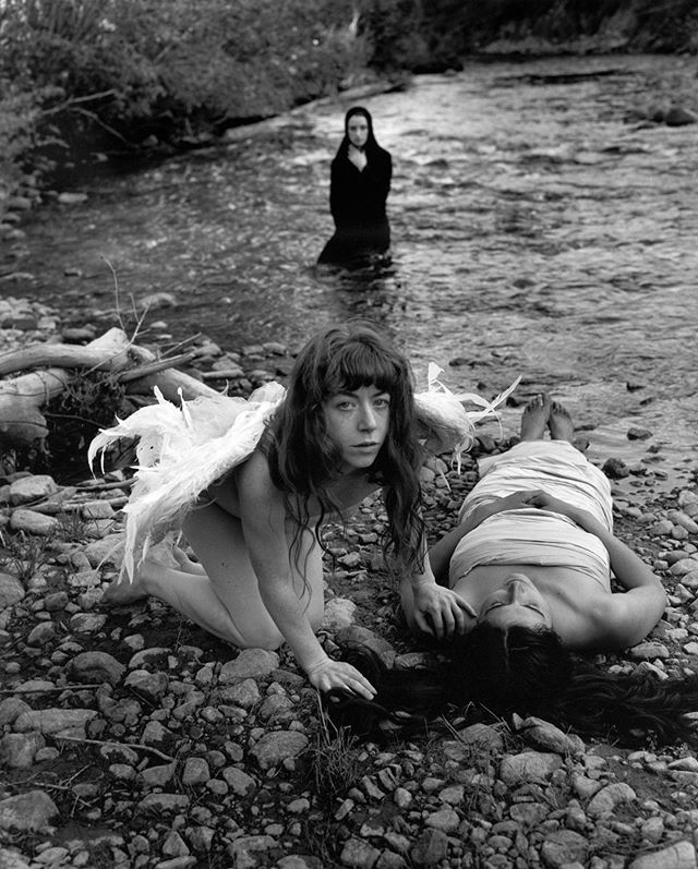 Gallery open 1-3pm today! Come check out this 16x20 #silvergelatinprint by @weston.photography up now! $1400, limited edition of 40.  Photo: Angel by the River ©Kim Weston. All Rights Reserved.  #galleryexposed #photographygallery #artgallery #carmel #carmelbythesea #carmelsquare #buyphotography #supportthearts #blackandwhite #bnwmagazine #bnw #bnwphoto #bnwphotography #bnw_captures #bnwmood #filmisnotdead #bwnude #fineartnudes #silvergelatinprint #silvergelatinprints