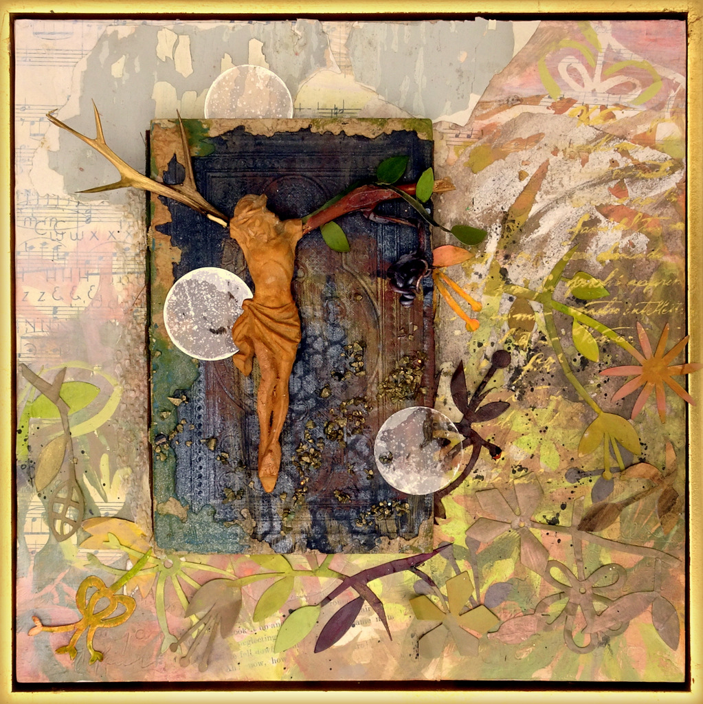 """THORN & VINE"",  Mixed Media Wall Piece,  12x12"",  $450"