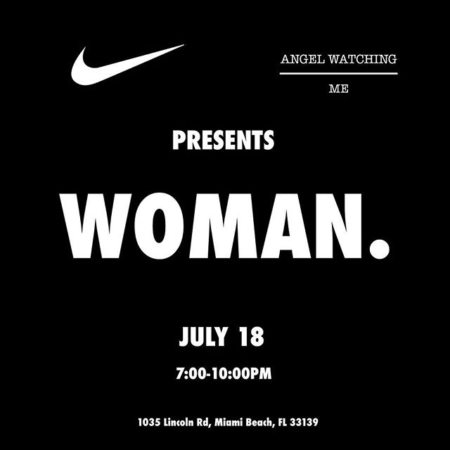 Too excited for this one. On July 18th I am collaborating with Nike to bring back AWOM Woman Day with influencers in the street wear and sneaker culture to speak on the importance of a woman and business in general. Save the date and RSVP by emailing: info@soakiba.com limited space available ✔️