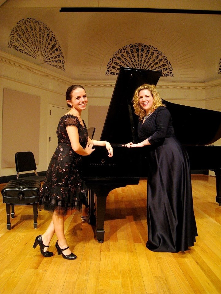 With pianist Laetitia Ruccolo