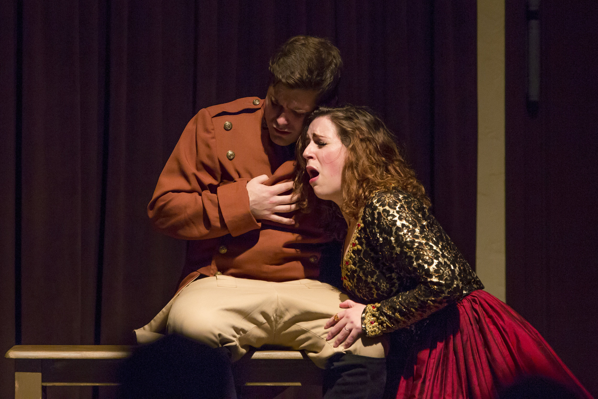 Photo credit: Madeleine Gray  As Rosario in Palm Beach Opera's  Goyescas   With Spencer Viator