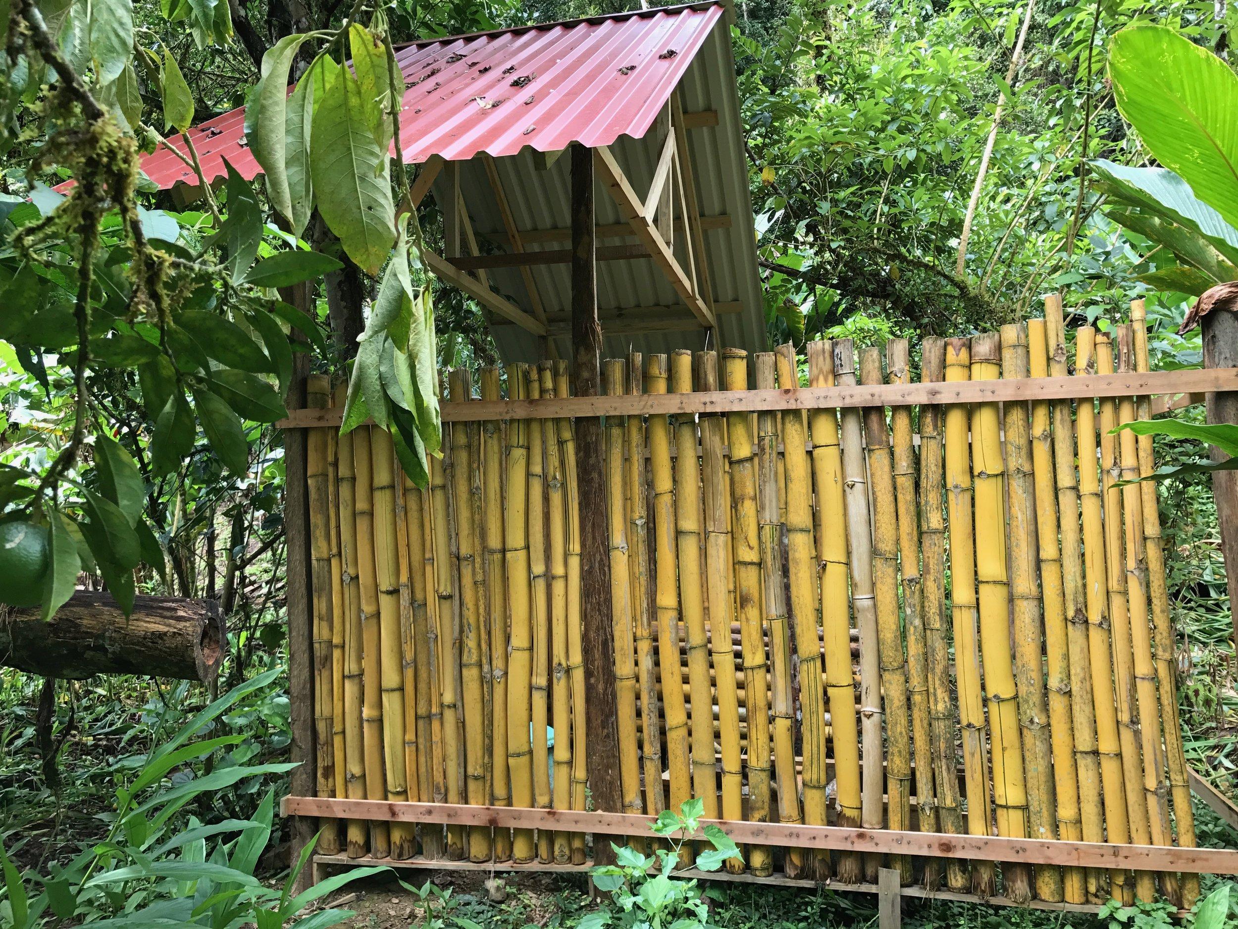 The Bamboo Bathroom.