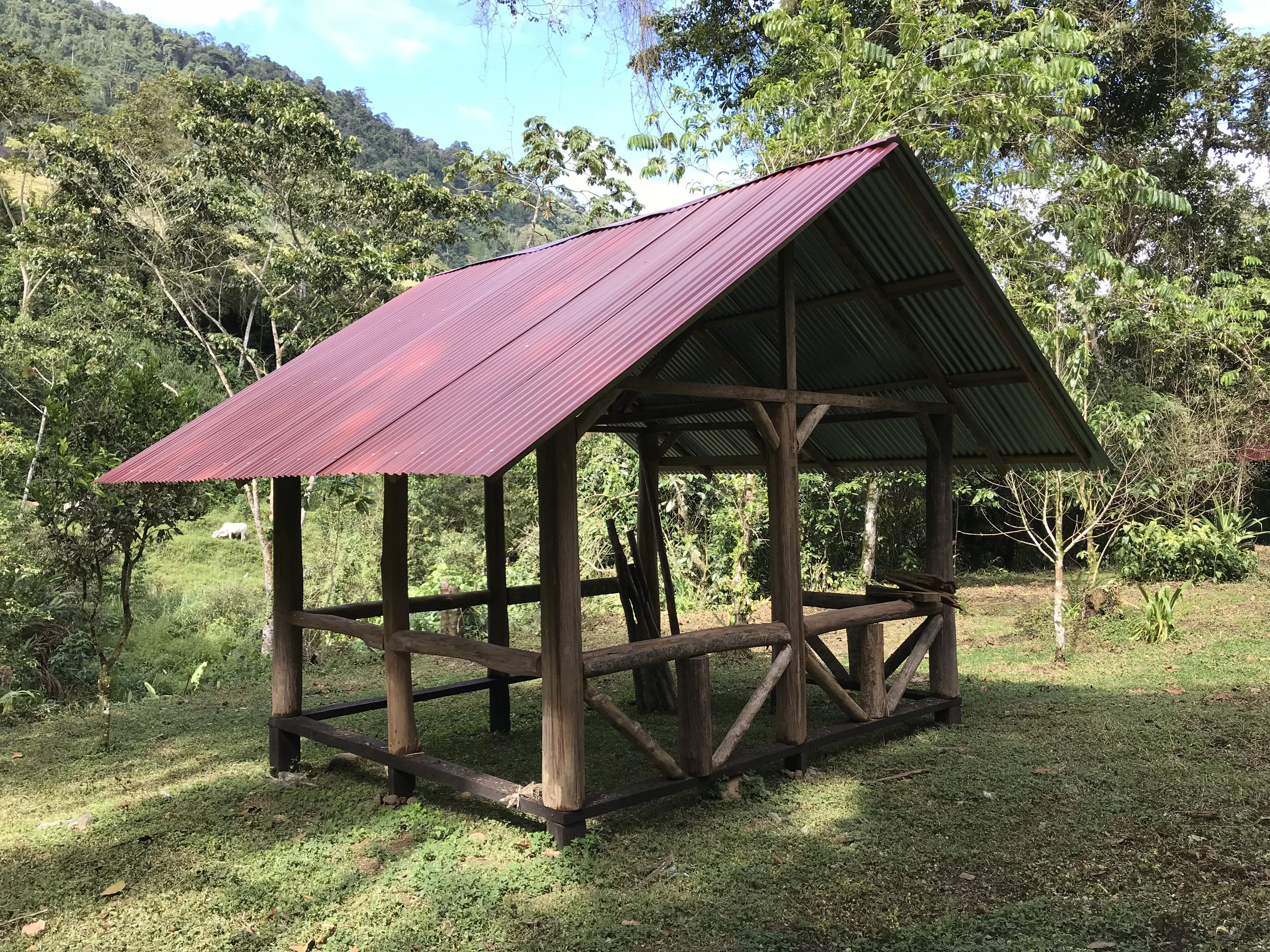 #5 Campsite.  1 Camper on a Grass Campsite with a Tin Roof.....$20 per night. Bring your tent or rent ours for a small fee. The Perfect Pavilion for Family Camping; $185/week, including 2 small children, 10 years old and under.