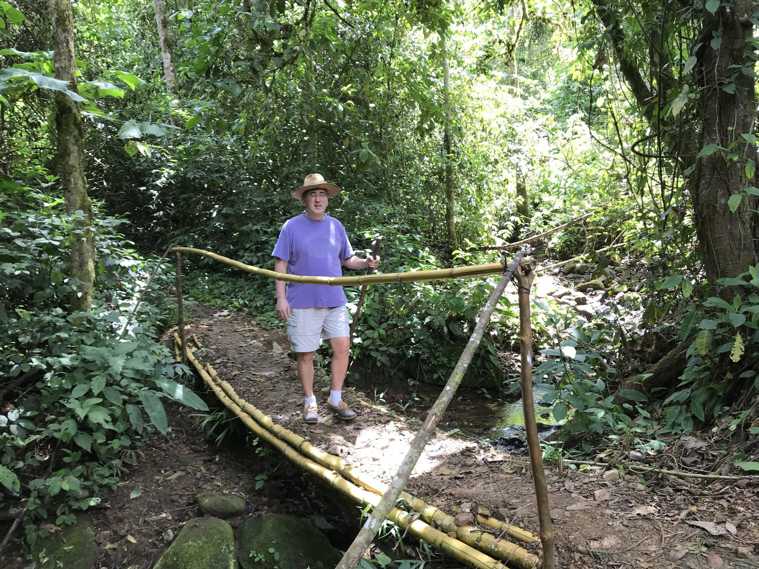 CROSSING THE BAMBOO BRIDGE