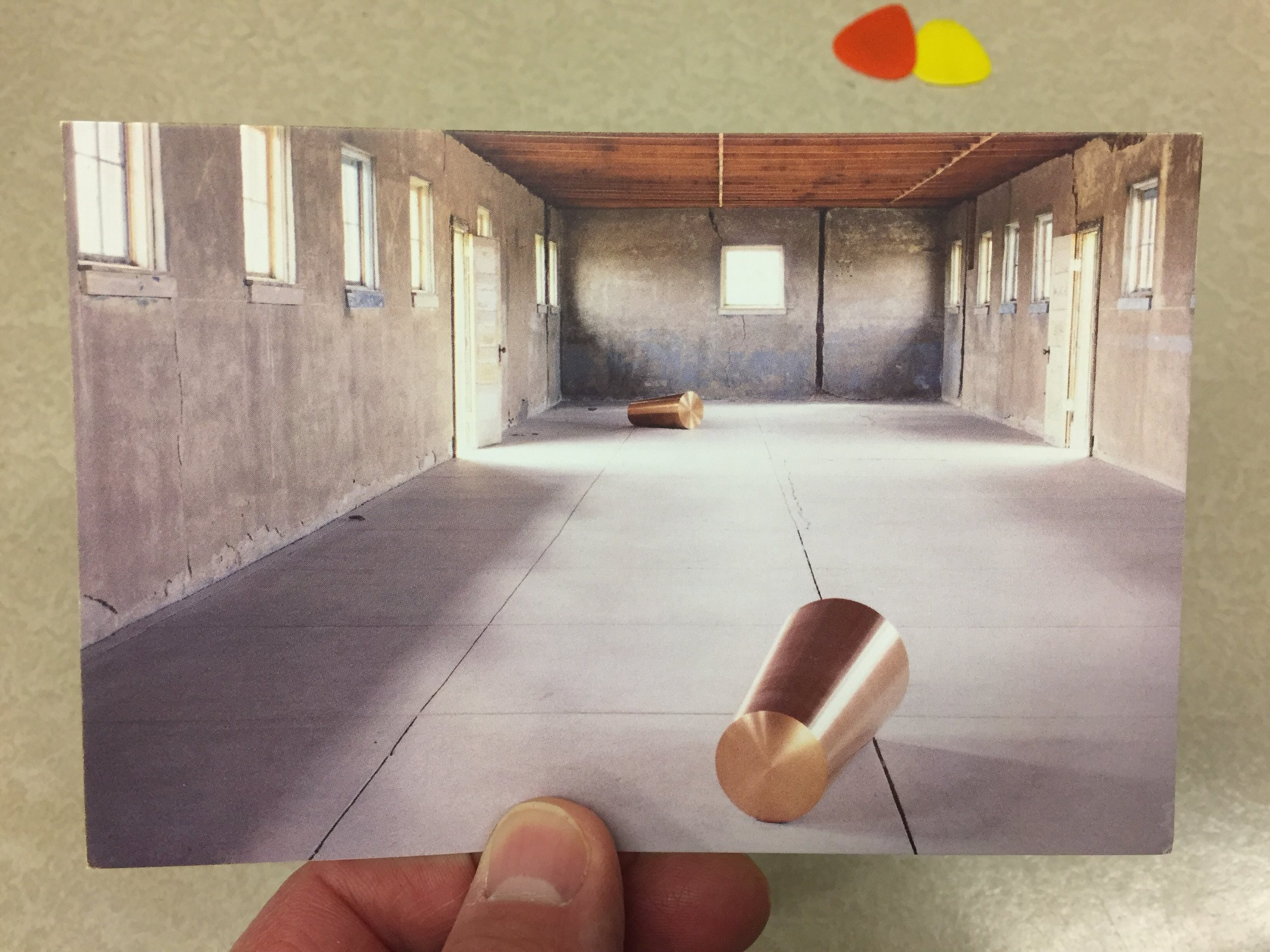 Roni Horn, Things That Happen Again; For a Here and a There, 1986-1991. Shot off a postcard from the Chinati Foundation gift shop, as I exited.