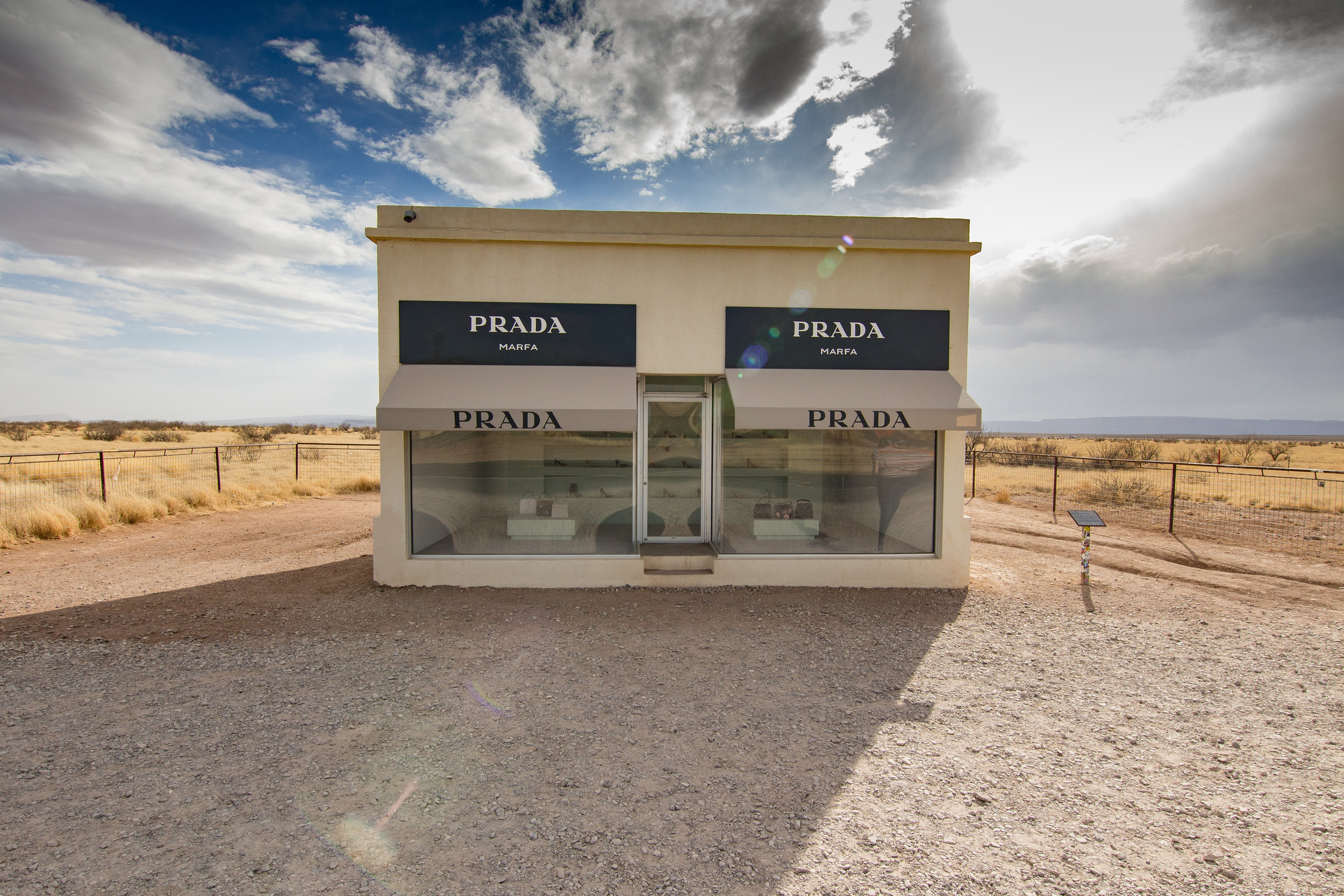 Prada Marfa. A permanent installation by Elmgreen and Dragset.
