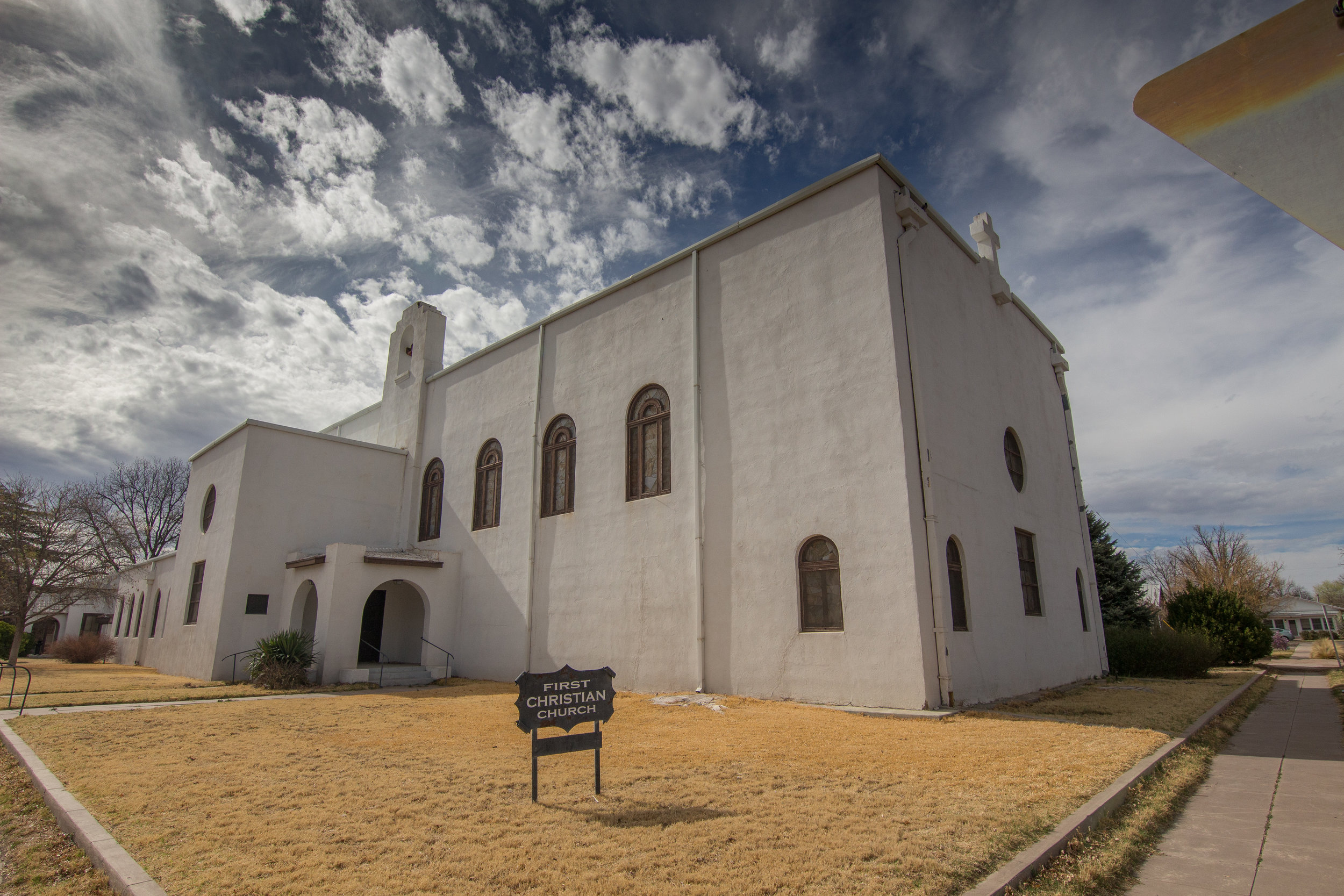 Despite the intrusion of the Art World, Marfa maintains several churches. This one is by the same architect who designed the Brite Building over on Highland Avenue, but I can't seem to find the person's name anywhere. Pretty epic example of Pueblo Revival.