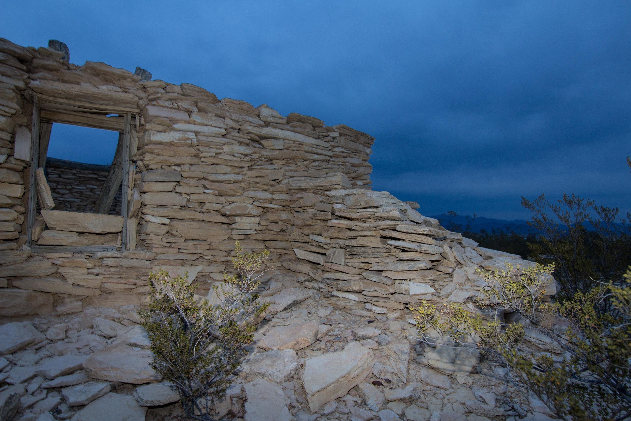 The road home runs past older real estate. Terlingua, TX
