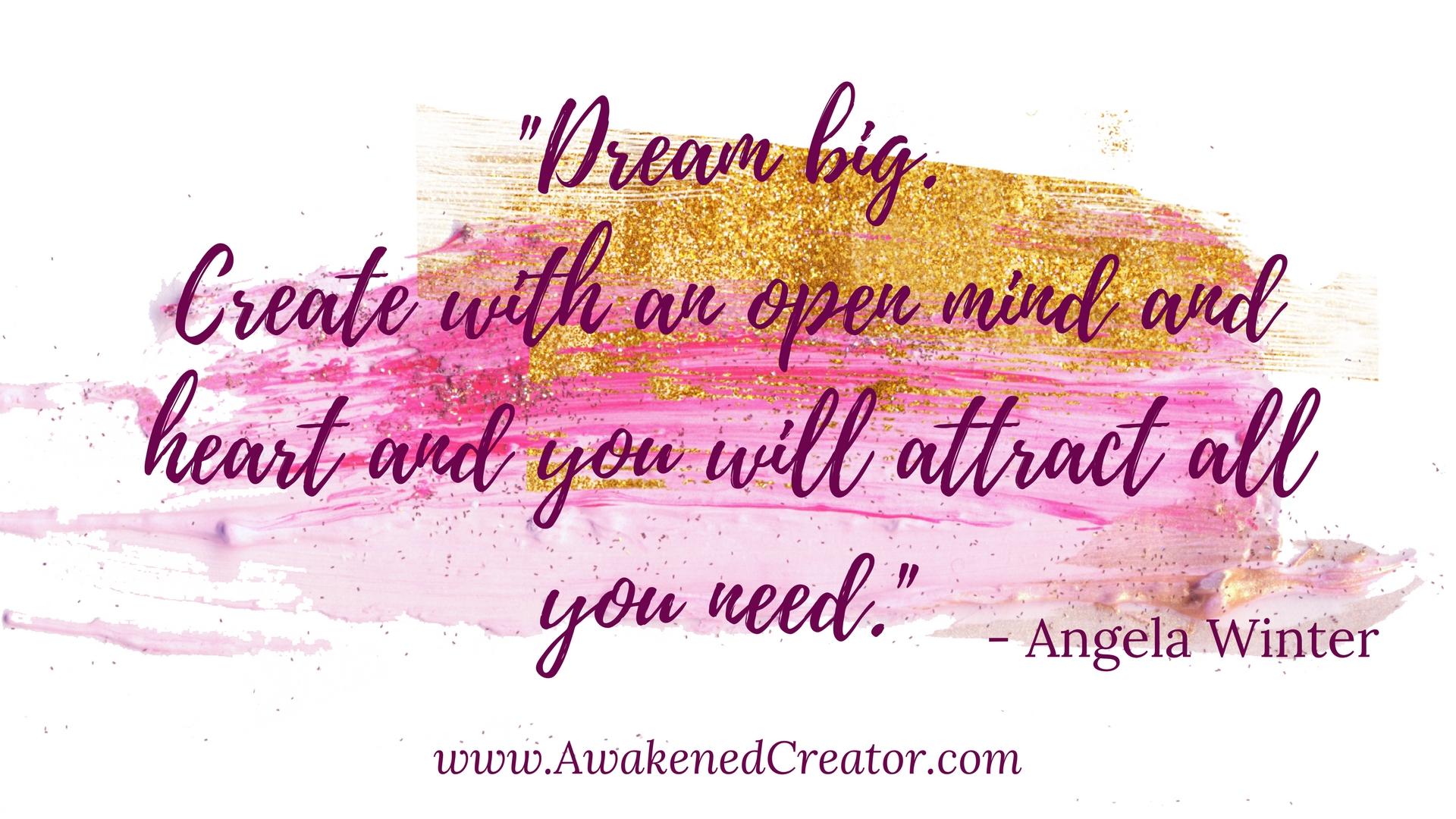 create with an open mind creativity wallpaper