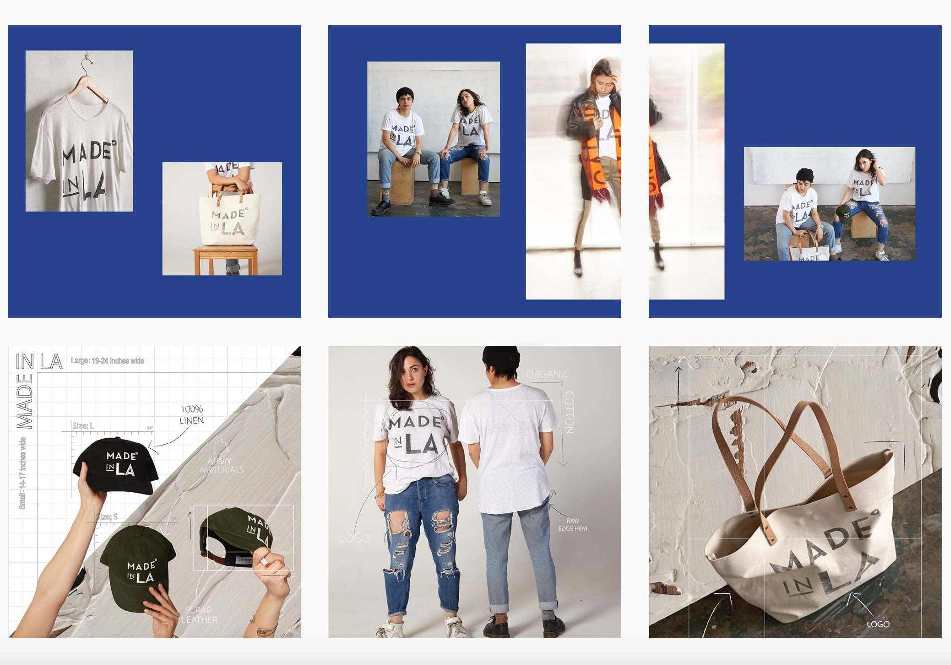 Made in LA - Scheduling posts, following product and promoting new merchandise, all made locally in Los Angeles.