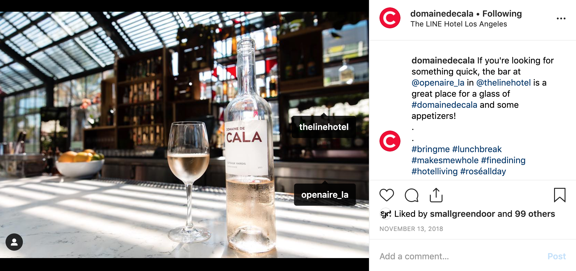 captions, hashtags, and location scouting - Creating dynamic captions for CALA and the restaurants currently serving their product.