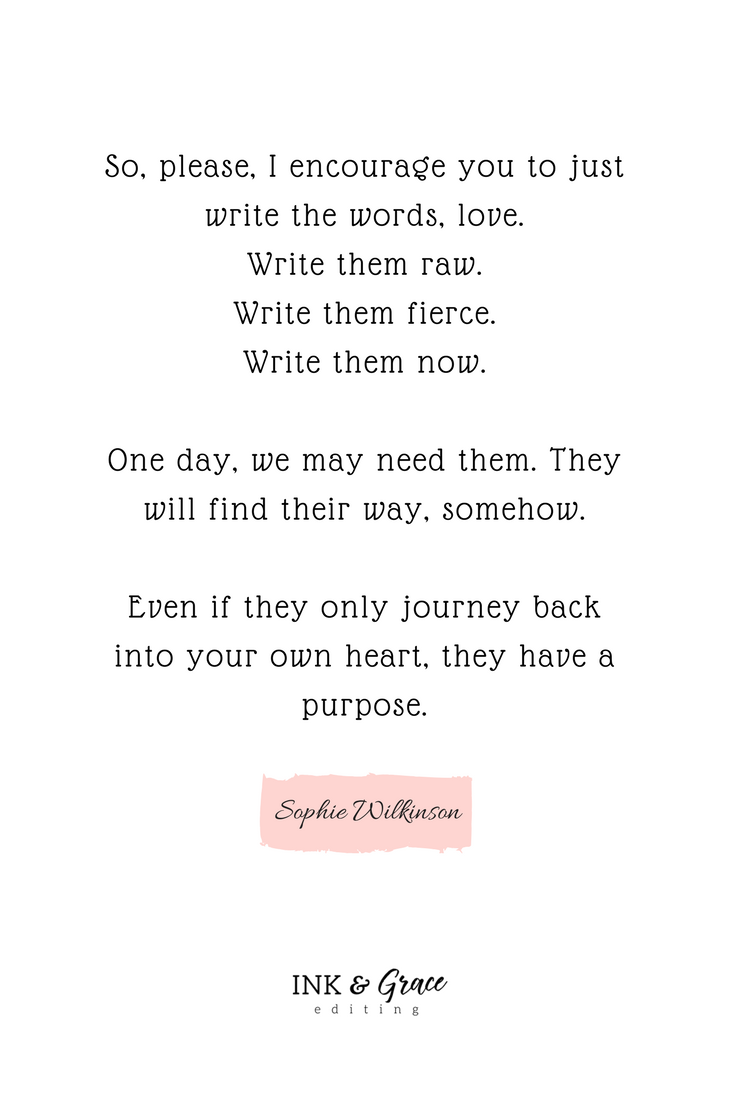 Writing Quote from Sophie Wilkinson