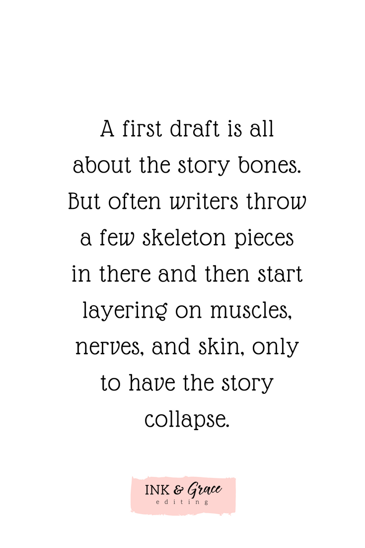 Three things you don't need to worry about while writing your first draft