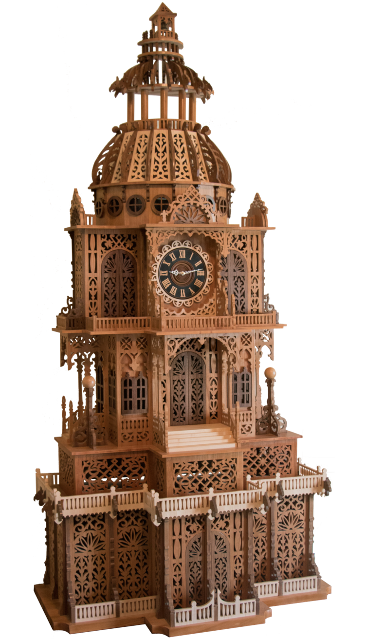 Treasure Valley Scrollers - Clock Tower / Craig Plummer2019 Best of Show - Scrollers / 5' Tall