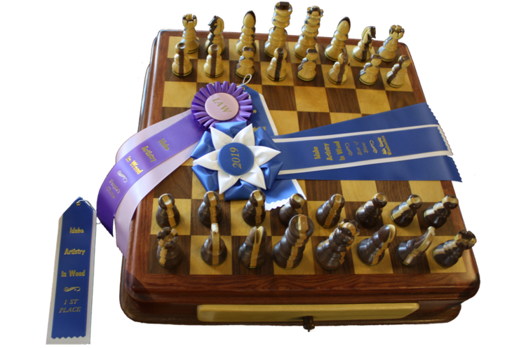Ada County Woodworkers Association - Chess Set2019 Best of Show - Woodworkers / Full Size