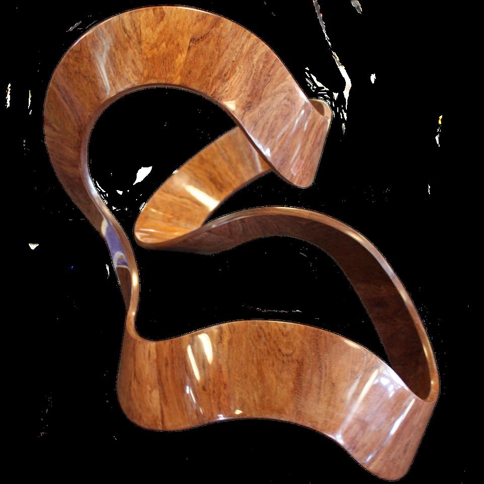 - Mobius Wood Ribbon / Pat White