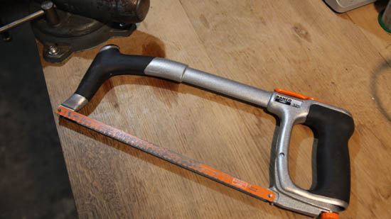 Bahco hacksaw - Sturdy and comfortable enough to not even need a bandsaw.