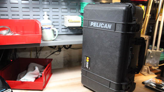Pelican 1510 case - The most secure way to carry your tools.