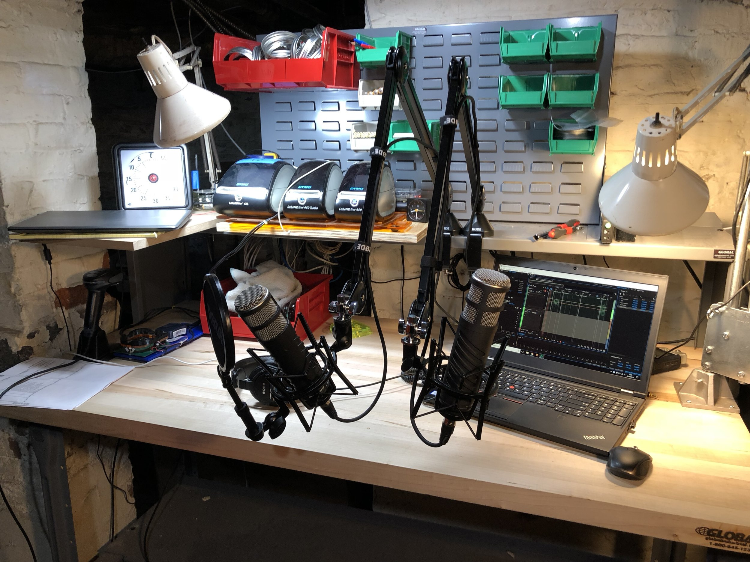 The Prepared's new recording setup, thanks to our donors on Patreon!