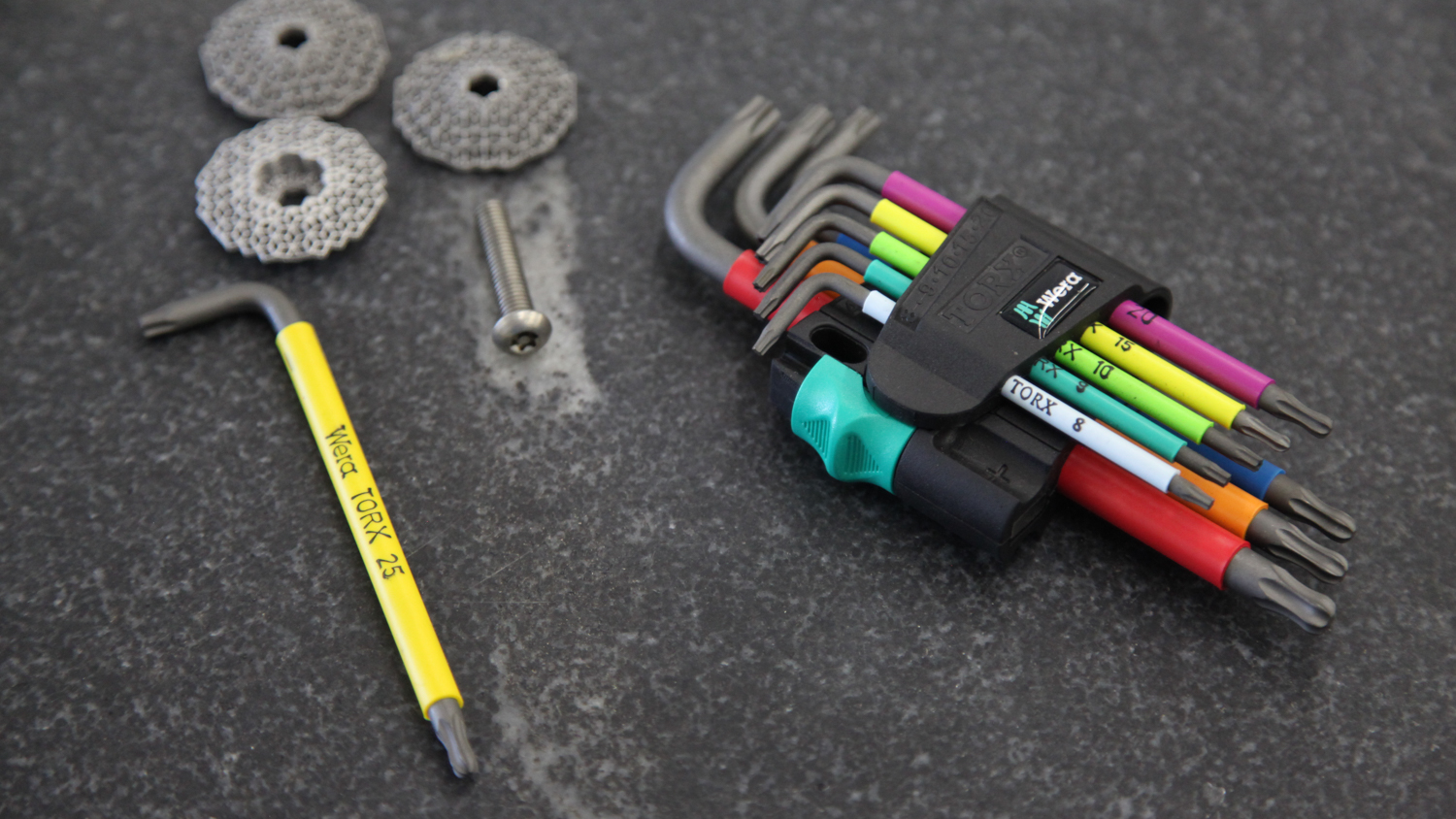 Wera Security Torx drivers - Color coded & very well built.